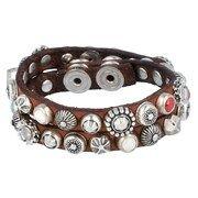Campomaggi, Dames Armband, roestbruin / zilver