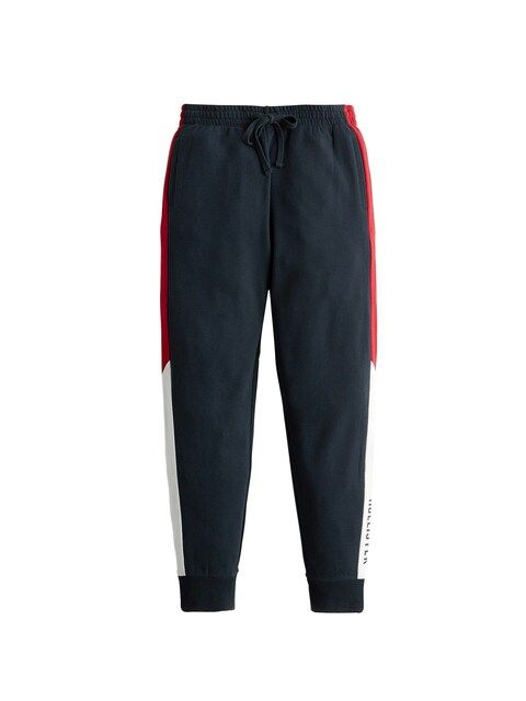 HOLLISTER, Dames Broek 'DTC SPORTY LOGO JOGGER', navy / rood / wit
