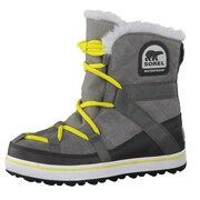 SOREL, Dames Snowboots 'Glacy Explorer Shortie', geel / grijs / grafiet