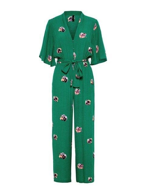 Y.A.S, Dames Jumpsuit, groen / donkerlila / rosa