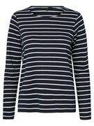 VERO MODA, Dames Sweatshirt, nachtblauw / wit