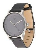 ADIDAS ORIGINALS, Heren Analoog horloge 'District_L1', grijs / zwart