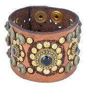 Campomaggi, Dames Armband, cognac / gemengde kleuren