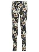 NAME IT Kids Twill Geweven Bloemenprint Legging Dames Blauw