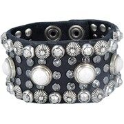Campomaggi, Dames Armband, zwart / zilver
