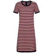 TOMMY HILFIGER, Dames Jurk 'HALIMA DRESS', blauw / rood / wit