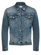 SELECTED HOMME, Heren Tussenjas, blauw denim