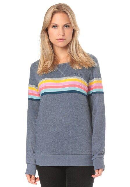 RIP CURL, Dames Sportief sweatshirt, geel / grijs / rood