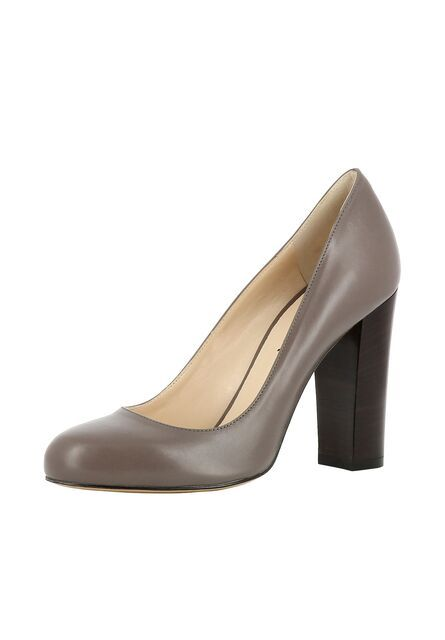 EVITA, Dames Pumps, donkerbruin / taupe