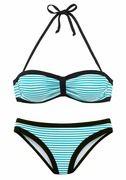 BENCH, Dames Bikini, turquoise / zwart / wit