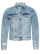 CHEAP MONDAY, Heren Tussenjas 'Legit Jacket', blauw denim