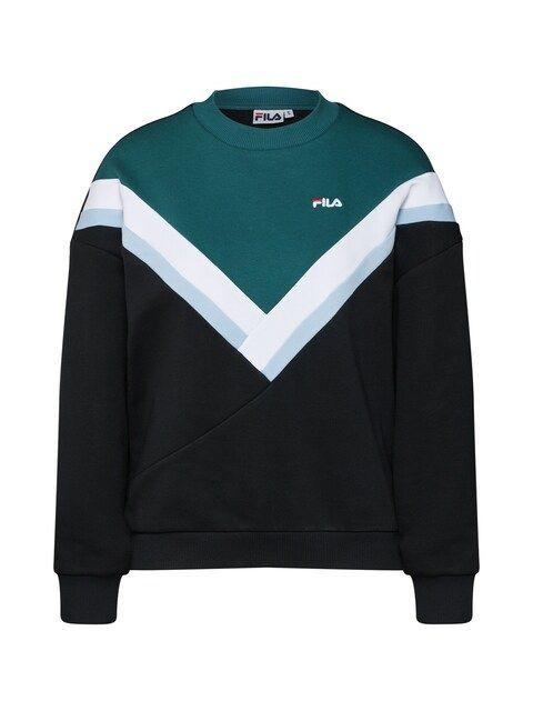 FILA, Dames Sweatshirt, petrol / zwart / wit