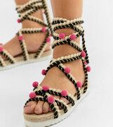 ASOS DESIGN - Just Play - Espadrilles met brede pasvorm - Multi