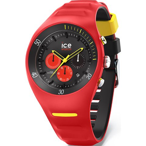 P. Leclercq ice-watch Large Red Chrono Horloge