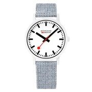 Mondaine Essence 41mm Eco-Friendly Wit Blauw