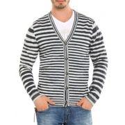 Guess vest - Sweater Morrison Indigo - Blauw / wit