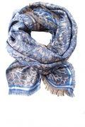 Sjaal met luipaardprint en glitterdetails Esther  blauw