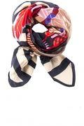 Zijden sjaal Adisa  blauw