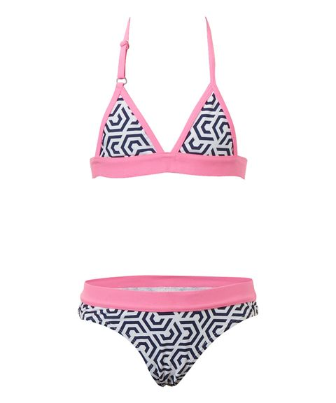 Meisjes Triangel bikini met print multicolor in maat 98/104