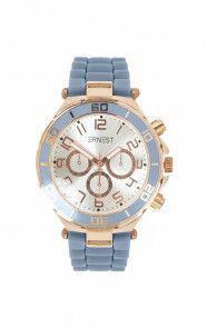 Horloge Rubber Jeansblauw