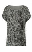 Leopard Print Top Grijs