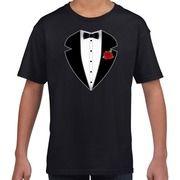 Maffiosi verkleedkleding t-shirt zwart voor kinderen