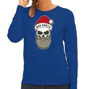 Blauwe Kersttrui / Kerstkleding Bad Santa voor dames