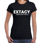 Extacy connecting people drugs fun shirt zwart voor dames drugs thema