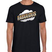 Fout Fabulous t-shirt in 3D effect zwart voor heren