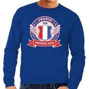 France drinking team sweater blauw heren