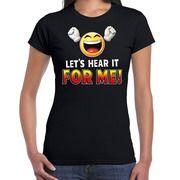 Lets hear it for me fun shirt dames zwart