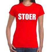 Stoer fun t-shirt rood voor dames