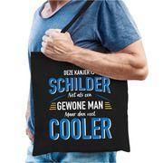 Schilder katoenen tas zwart voor heren - gewone man maar dan cooler