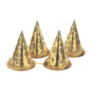 10x Gouden feest hoedjes nieuwjaar