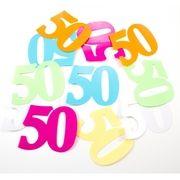 24x Mega strooi confetti 50 jaar feestartikelen