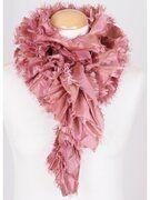 boFF strokensjaal in oud roze met rafelrandje