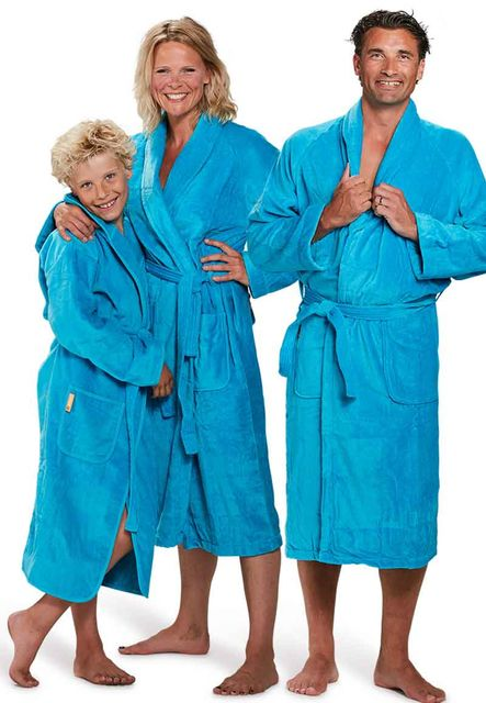 Badjas aquablauw - XXXL