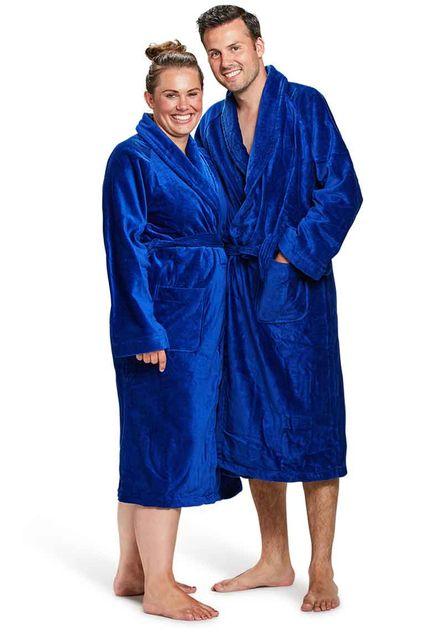 Badjas kobaltblauw - S/M