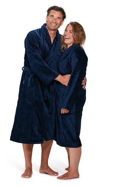Badjas marineblauw - S/M