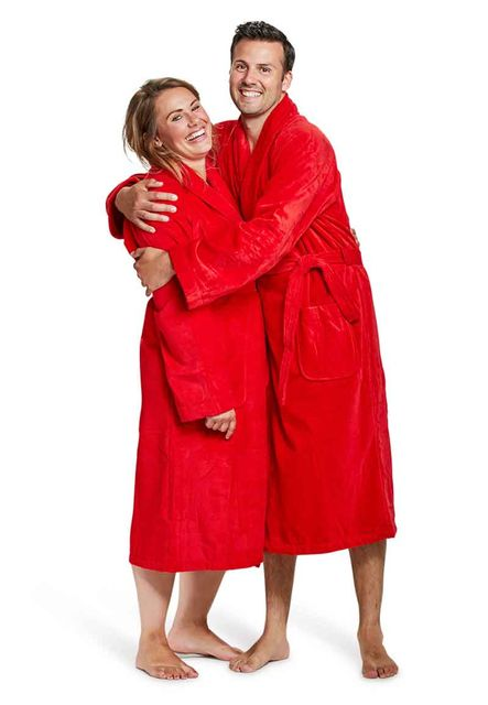 Badjas rood - XXL