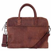 DSTRCT Wall Street Business 15,4 inch Laptoptas Brown