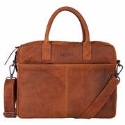 DSTRCT Wall Street Business Laptoptas 15.4'' Cognac