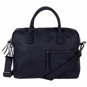 DSTRCT Wall Street Business 15,4 inch double Laptoptas Black