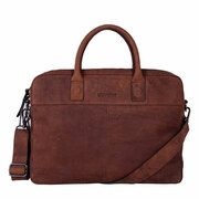 DSTRCT Wall Street Business 15,6 inch Laptoptas Brown