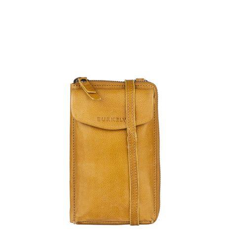 Burkely Just Jackie Phone Wallet Crossbody Bag Yellow
