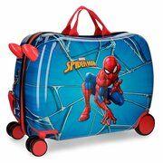 Disney Rolling Suitcase 4 Wheels Spiderman Black