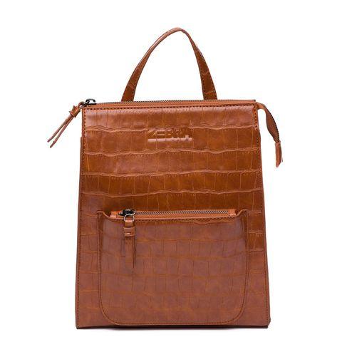 Zebra Trends Natural Backpack Siena Cognac Croco 416005