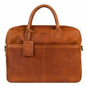 BURKELY Antique Avery 15 inch Laptoptas Cognac