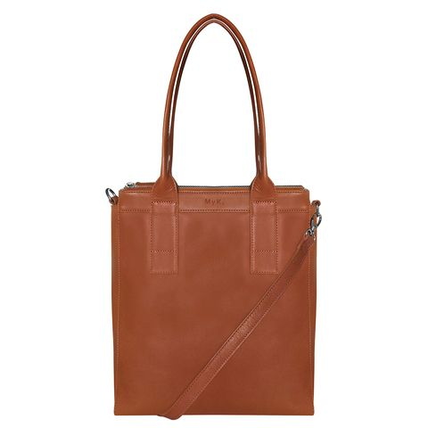 MyK Bag Lotus Schoudertas Caramel