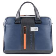 Piquadro Urban Slim Portfolio Computer Briefcase 14'' Blue/Grey
